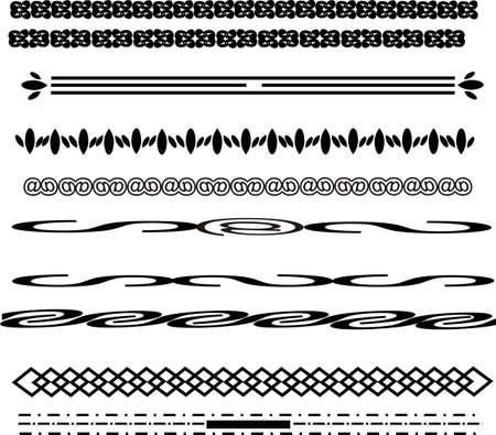 様々 なデザインのライン、いくつかのシンプル デザイン フレームのラインを形作る.  イラスト・ベクター素材