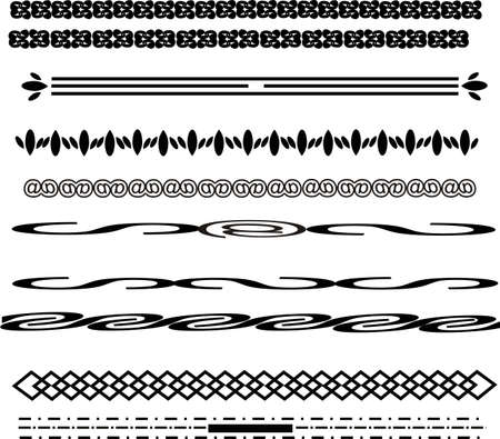 Lines of various designs, some simple designs forming lines for frames, and so on... Illustration