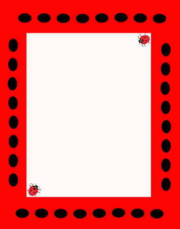 Ladybug background, great for many uses and is vibrant in color.. Ilustracja
