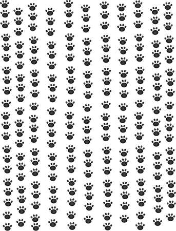 Puppy paw prints all heading in an upward direction wallpaper