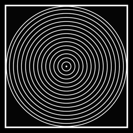 ecliptic: Black and white, square into a circle to a point.. optical illusion, creating apparitions in ones minds..  simple yet complex... wallpaper..