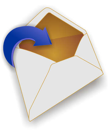 got: You got mail icon.... with arrow showing the receiving of it...