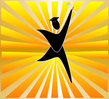 graduating: Graduating and celebrating the start of a new world for you....