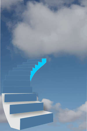 stairway to the sky.. meaning the sky is the limit in all that one does....