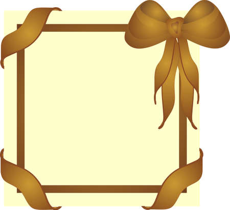 elegant gift cover, memo board or sign for your text.. Vector