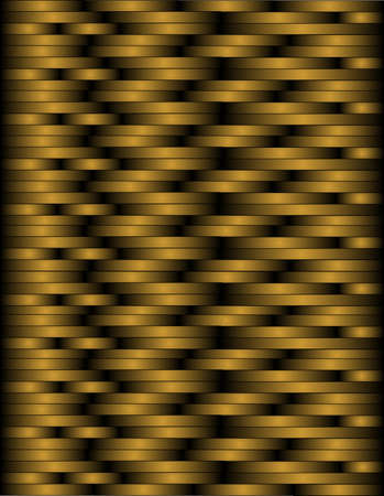 checked: Black and copper woven lines to create a basket weave illustration, that can be seamlessly tiled..