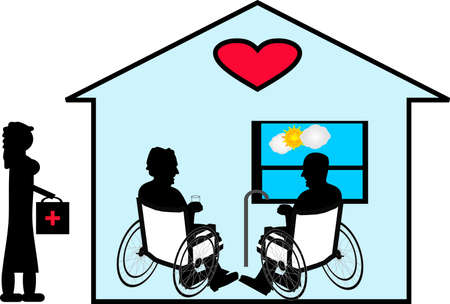 Sharing their love of many years with Home Care in their home... Vettoriali