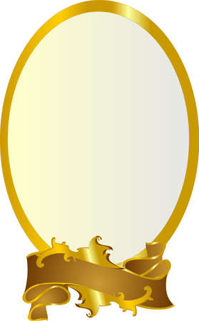 tenedores: Ricos, marco ovalado, para muchos usos incluyendo el uso de texto .. ilustraci�n .. y mucho m�s. Vectores