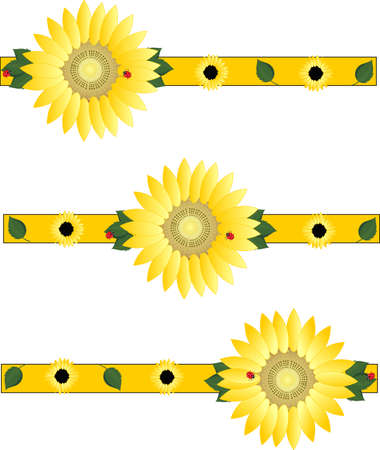 Beautiful sunflowers brightening the day... Vector