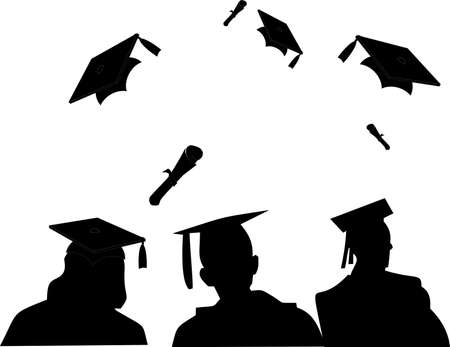 A New day begins as the graduates enjoy their moment..  Illustration