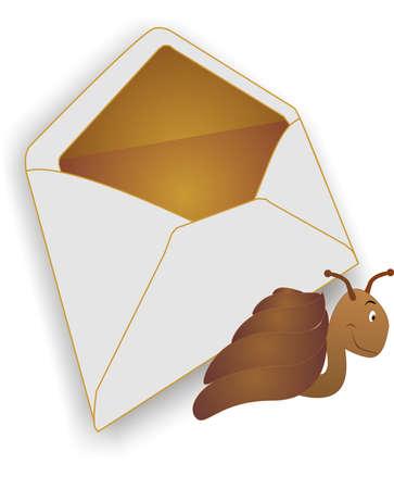 metafoor: Metafoor op de manier waarop post is verzonden door luchtvaart maatschappijen Snail Mail...