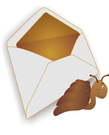 Metaphor on the way mail is sent through carriers.. Snail Mail...