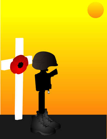 For all the brave ,fallen, men and women, who gave their lives for us to be free... Lest we forget.. Stock Vector - 4909809