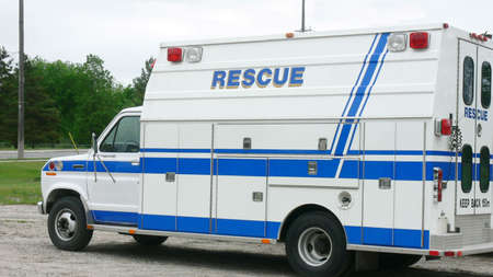 Rescue vehicle waiting for its next emergency, to get back into action.. photo