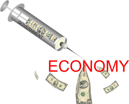 try:  Governments injecting money into the Economy, to try to end the economic crisis...