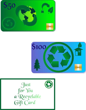 biodegradable: Recycle gift cards, can either be reloaded for more spending and it is made of biodegradable materials.