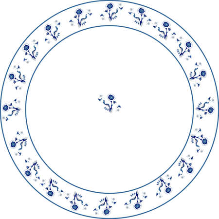 plate: Round corn thisle border, great for many usages, as a frame, and so on..