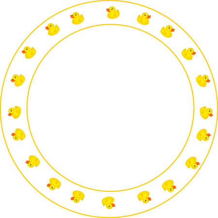 Ducky Design Border, round in design. For childrens frames, and memo's or for your text.