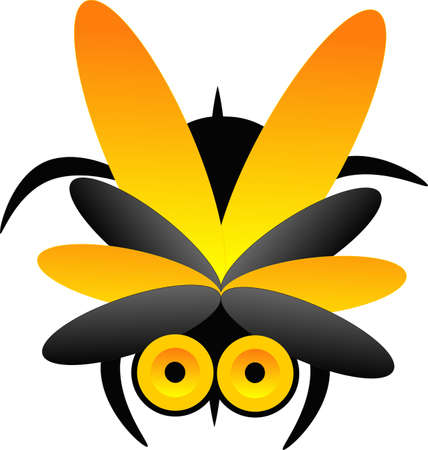 Abstract design of a wasp, great for logo and other usages..