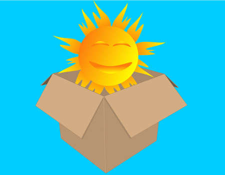 Opening up a box of sunshine on those gloomy days... Vector