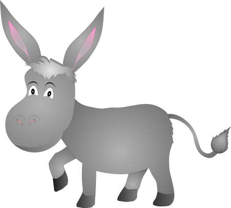 illustration of a donkey over white  Vector