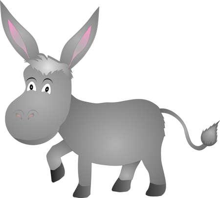 jack ass: illustrazione di un asino over white  Vettoriali