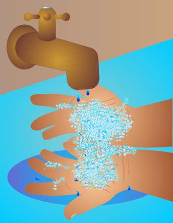 aseo personal: Limpieza le las manos con jab�n y agua, lavar cualquier g�rmenes que puede que haya obtenido de tocar cosas