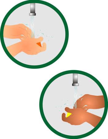 aseo personal: Lavando su icono de manos, para la limpieza y la prevenci�n de la transferencia de germen. Nos mantiene sanos.