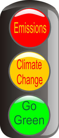Climate change warning is needed, to stop emissions and Go green.. Vector