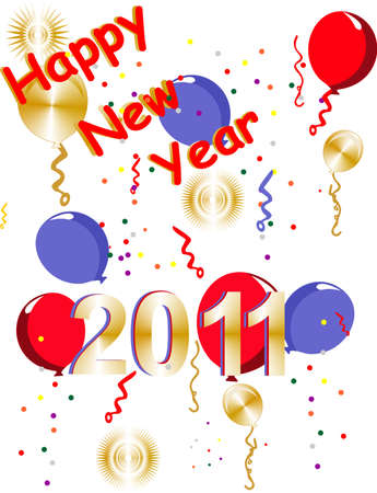 Happy New Years 2011 Stock Vector - 7019724
