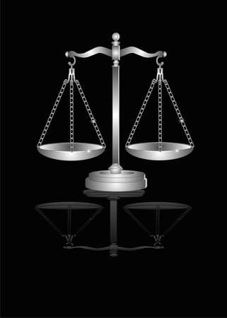 Scales of Justice, are they now truly balanced with fairness..... Stock Vector - 7255699
