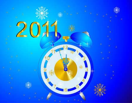 空の時計は 2010 年にさよならを言うと 2011 年リンギング. オリジナル ワッペン!