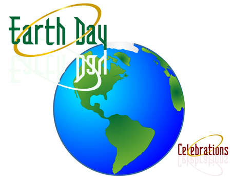 Earth Day Celebrations..Protect the world for others to enjoy!!! Иллюстрация