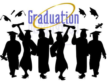 Graduados celebrando su éxito