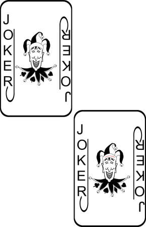 Illustration of Jokers for a deck of playing cards on white background