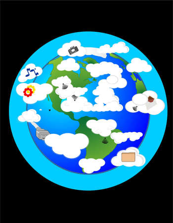 storage: Sending our information to be stored in the clouds around the world.  Leaving our data up in the air..