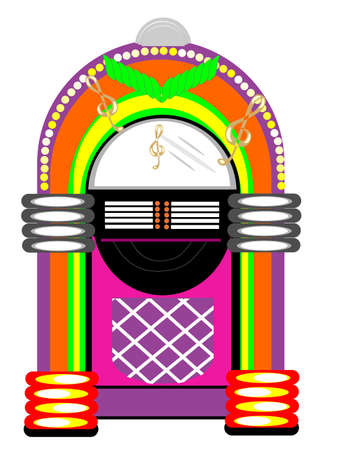 Retro Jukebox illustration Vettoriali