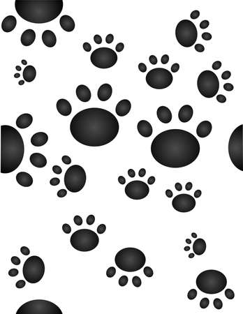 dog walking: Seamless pawprints
