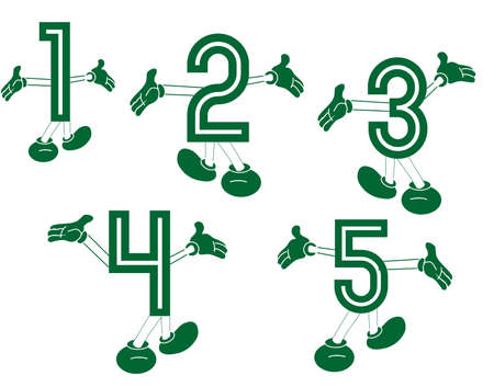 Primary numbers made for fun   Fun with numbers  Primary numbers, dancing and playing around, to excite the learning of them In a  two series set  Vector