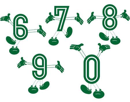 pies bailando: Números primarios hecho para la diversión divertido con los números de números primarios, bailando y jugando, para excitar el conocimiento de los mismos en un conjunto de dos series