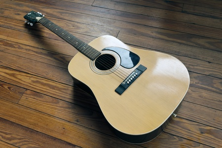 1960s Acoustic Guitar on a dance floor
