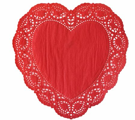 Heat Doily isolated on a white background photo