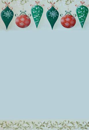 Retro Christmas Border on a gray background Stock Photo - 13794995