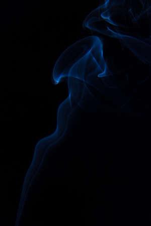 fume: blue fume Stock Photo