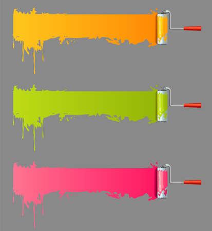stroking: Paint rolls Illustration