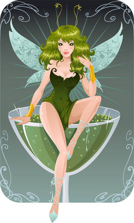 green dress: Absinthe fairy