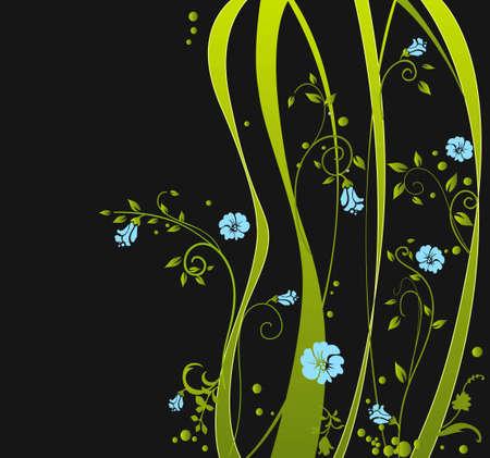 saturated: Green design Illustration