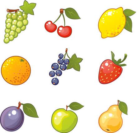 mezcla de frutas: Afrutado iconos