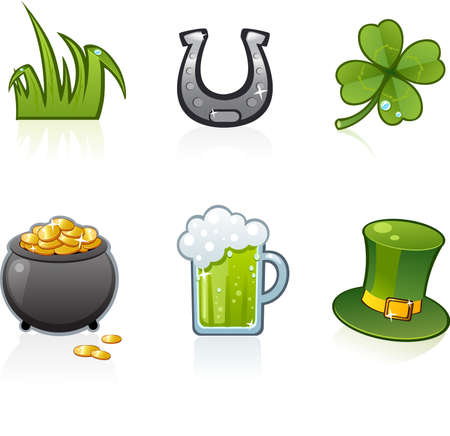 St. Patric's icons Stock Vector - 3117983