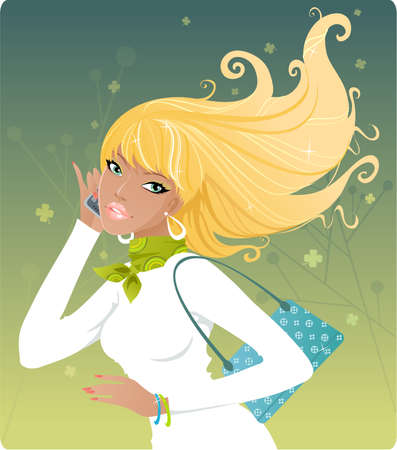 Spring girl Stock Vector - 3122731
